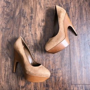 YSL • Imperiale Carpincho leather platform heels